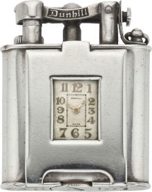Dunhill Vintage Sterling Lighter Watch circa 1928