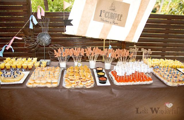 Lola wonderful blog fiesta de cumplea os piratas y - Buffet de cumpleanos ...