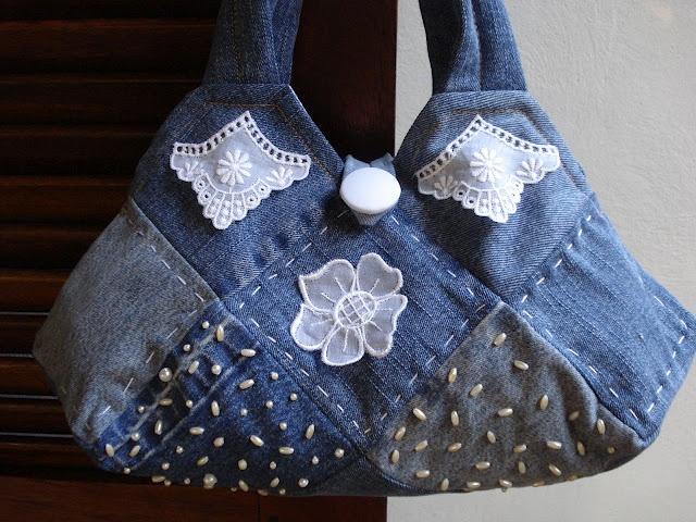 Bolsa De Tecido Jeans Como Fazer : Best images about denim on indigo jean bag