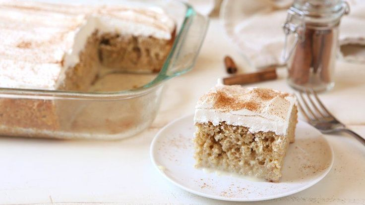 Try your favorite snickerdoodle cookie flavors in a cake with this simple poke cake recipe.