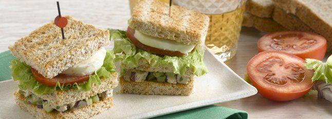Recette Sandwich à la salade de poulet