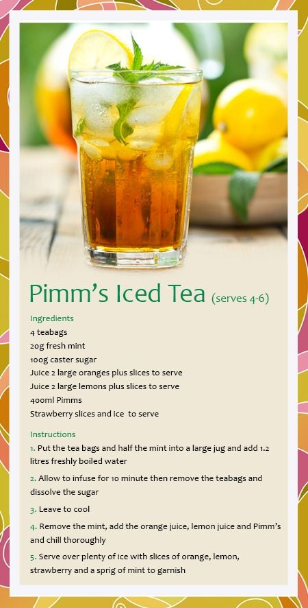 Tea Cocktails: Pimm's Iced Tea | Whittard of Chelsea