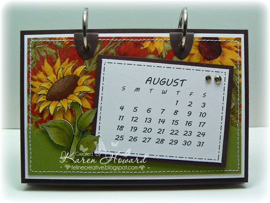 2013 Calendar - AUGUST by Feline Creative - Cards and Paper Crafts at Splitcoaststampers