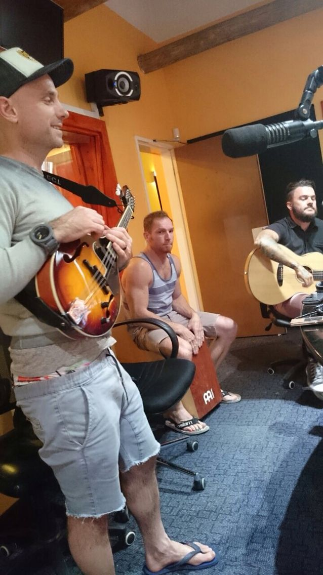 Playing some new songs off of Antiques & Artefacts on Mix FM #antefacts #parlotones
