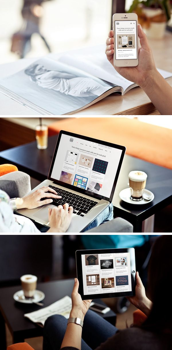 Free Download : Photo MockUps – iPhone, iPad & MacBook