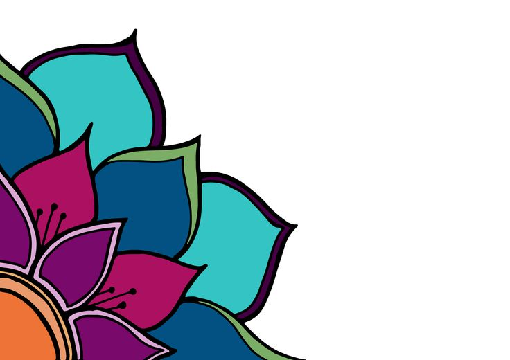 colourful mandala flower i sketched and uploaded to illustrator and photoshop yesterday. i think it's cute :)