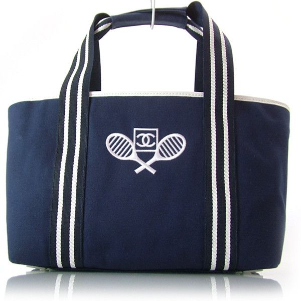 CHANEL Canvas Tennis CC Shopper Tote: bd19033 Fashionphile - Buy,... ❤ liked on Polyvore featuring bags, handbags, tote bags, chanel, sport, sport purse, blue tote bag, canvas totes, blue tote and shopping tote