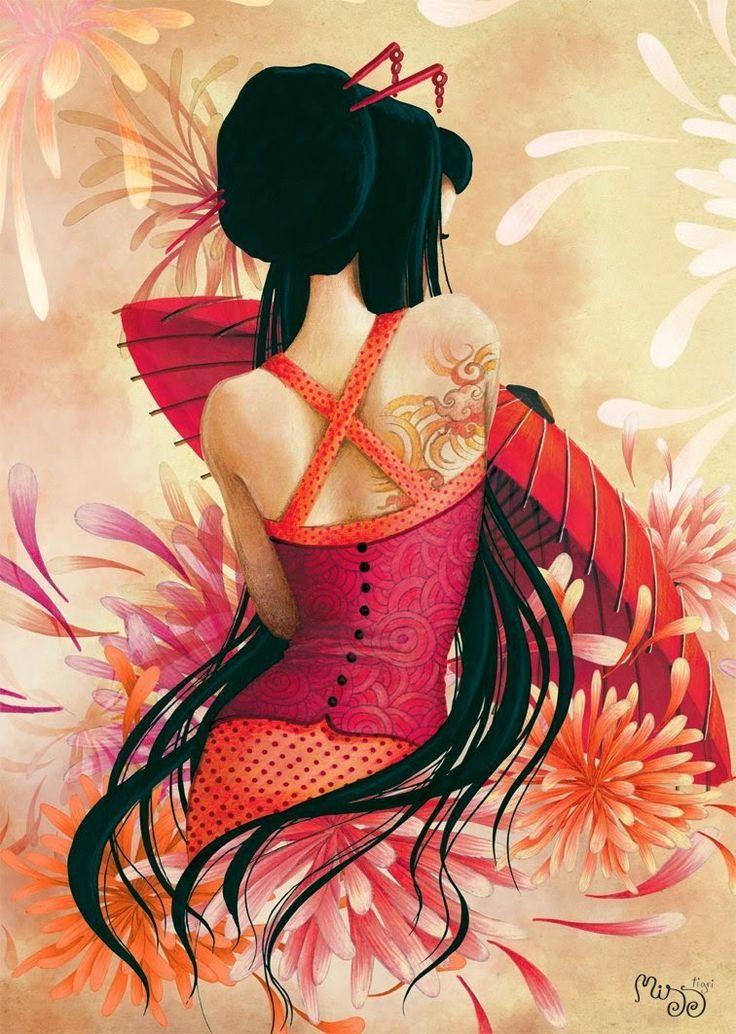 695 best oriental fantasy art images on pinterest japanese art japan tattoo and japanese tattoos. Black Bedroom Furniture Sets. Home Design Ideas