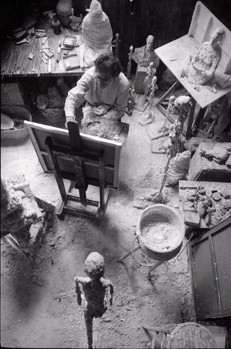 Giacometti Painting in His Studio, 1965.