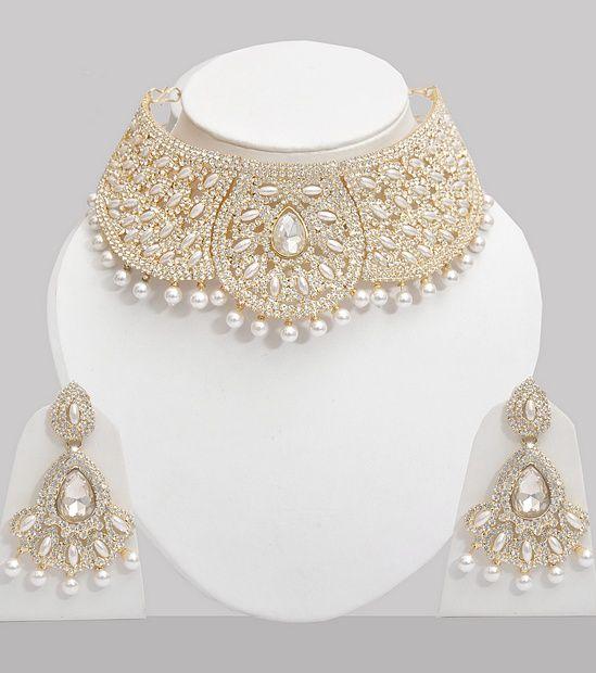 Pearl & Austrian Diamond Studded Jewellery