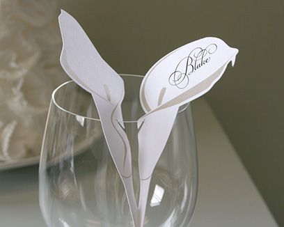 Calla Lily Place Cards from Timeless Paper