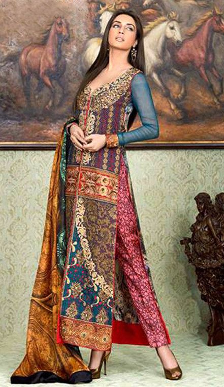 Asim jofa eid collection silk embroided gorgeous by AoneGoodDeals