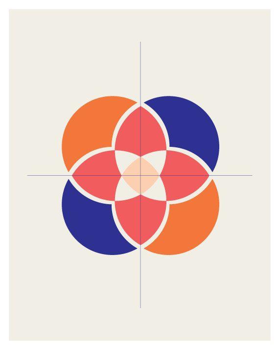 Flower Print - Geometric Pattern