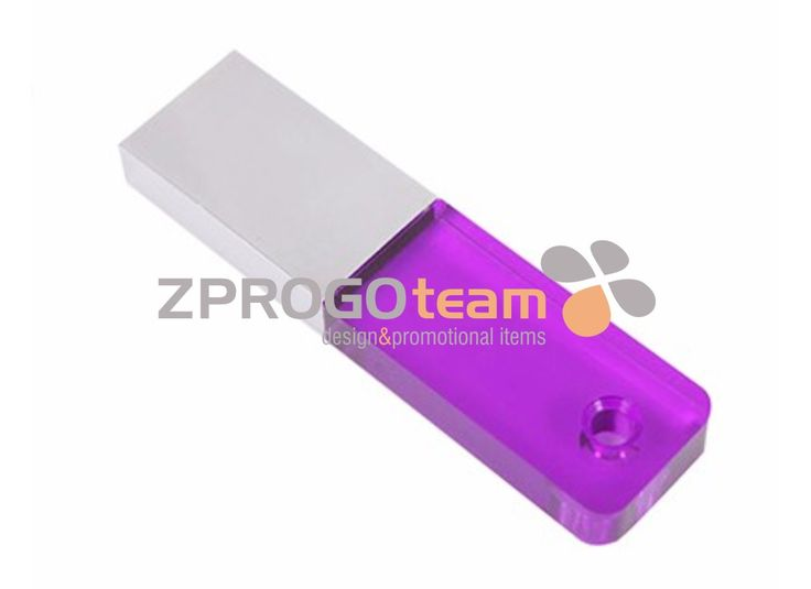 NEW: Modern promotional mini USB flash drive in combination with transparent plastic and metal.