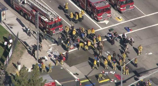 Live Stream: 3 gunman open fire on disabled people in San Bernardino, several dead