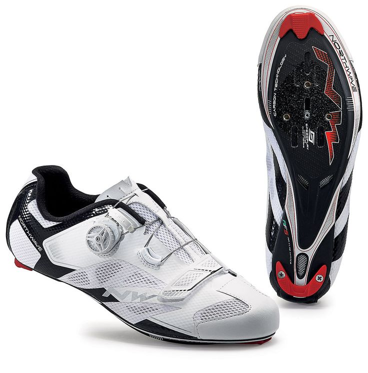 Northwave Sonic 2 Carbon Road Cycling Shoes - White-Black