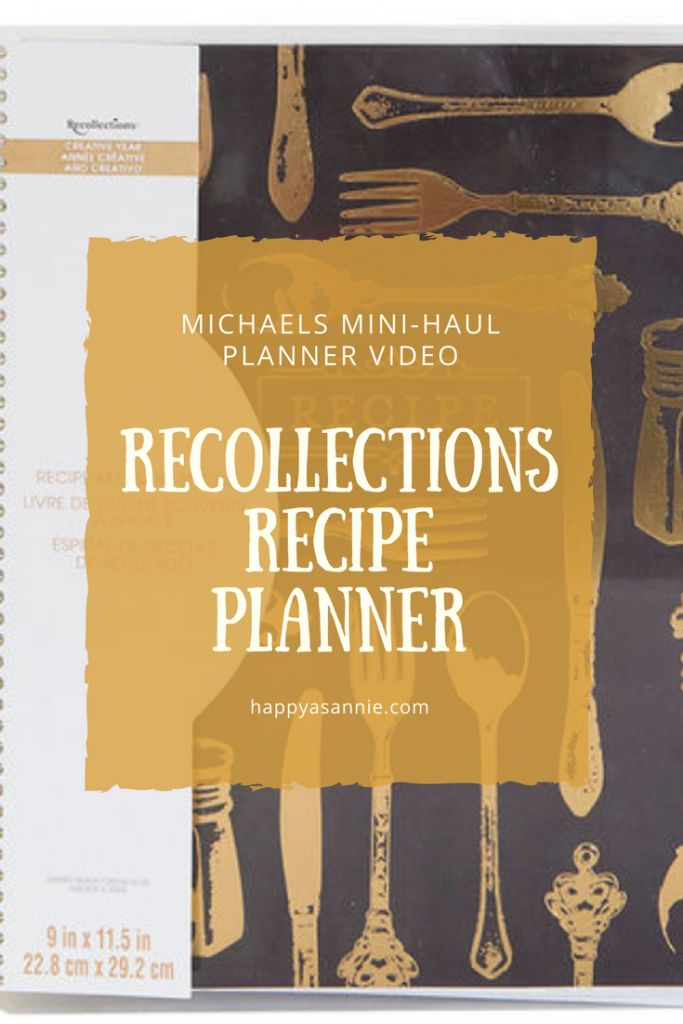 Happy As Annie Recollections Recipe Planner Video