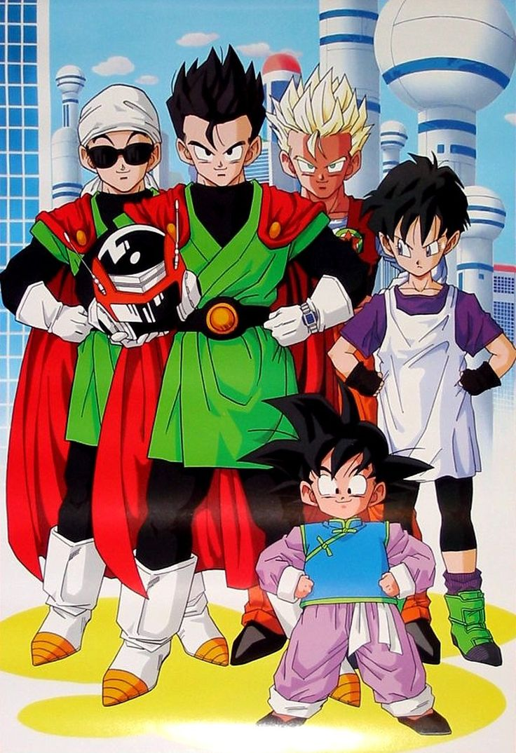Dragon Ball Z Dragon Ball anime Akira Toriyama Son Gohan Great Saiyaman Videl Son Goten Satan City Majin Boo Saga Boo Saga