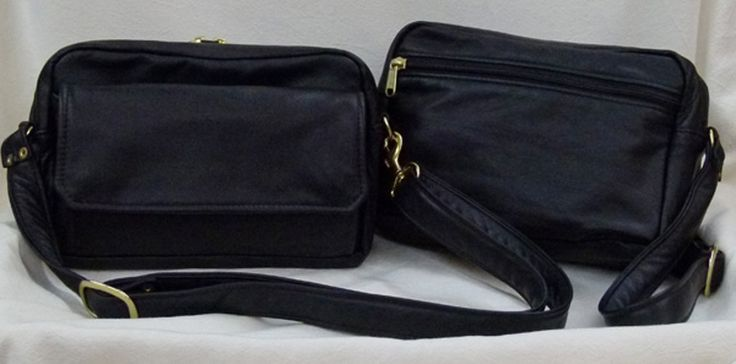 Waist Bag Fanny Pack off shoulder cross body Handbag Purse for tablet and with Built in Wallet - black leather from Grizzly Creek by Debbie ** Check this awesome image  : Handbags