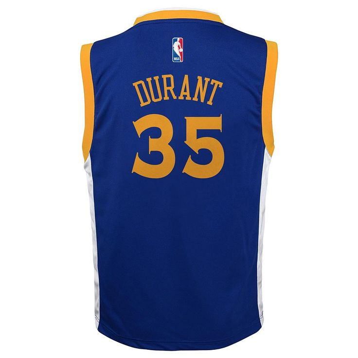 Toddler Adidas Golden State Warriors Kevin Durant Replica Jersey, Kids Unisex, Size: 2T, White