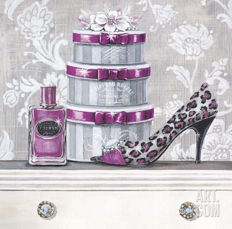 Fashionably Scented Plum Art Print by Angela Staehling at Art.com