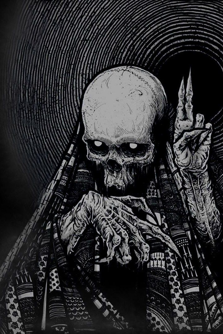 Dark Skull iPhone Wallpaper Iphone wallpaper, Dark