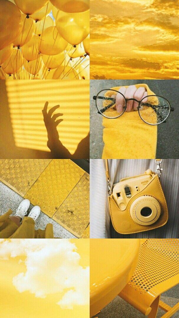yellow aesthetic ♡ O papel de parede amarelo, Papel de