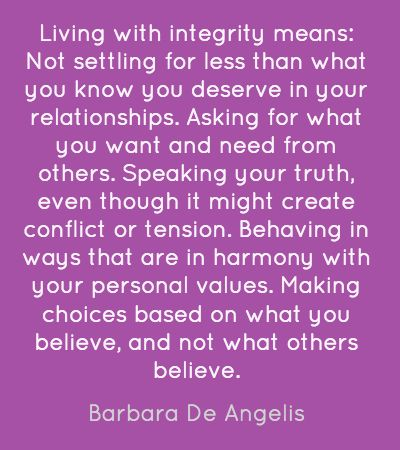 I have to write an essay on integrity...any ideas?