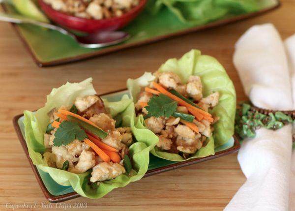 Thai Larb Chicken Lettuce Cups