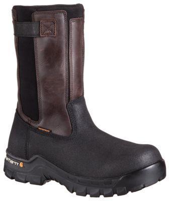 Carhartt Rugged Flex 10'' Waterproof Wellington Safety Toe Work Boots for Men - Brown - 11.5 W