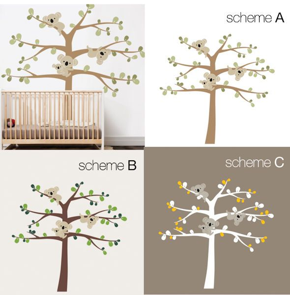 Ordinaire Tree With Koalas Wall Decal   Wall Sticker, Mural, U0026 Decal Designs At Wall  Sticker Outlet