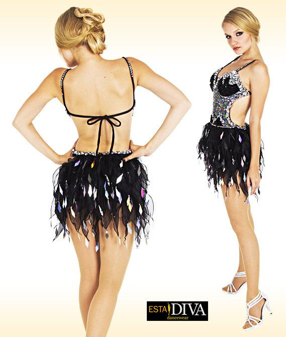 Abito latino Organza Dress Llama Negrita Salsa latino di EstaDiva