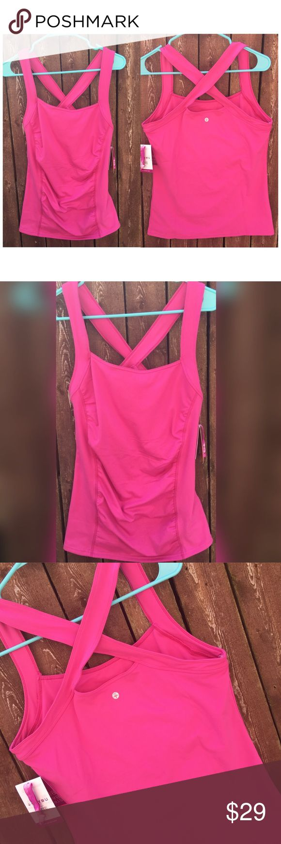 Soybu Alecia Tank Amaryllis 4022 Size Large Large Soybu Alecia Tank Amaryllis. Stretch reflex fabric. Quick dry, stretch, breathable, moisture wicking, UPF 50+ protection. 44% Conventional polyester, 44% recycled polyester, 12% spandex. New With Tags. Soybu Tops Tank Tops