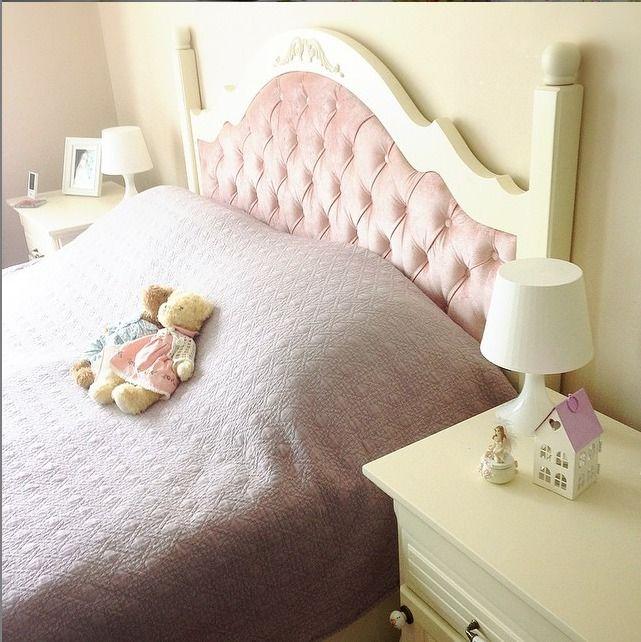 Yatak Odası, Pembe, Beyaz, Country