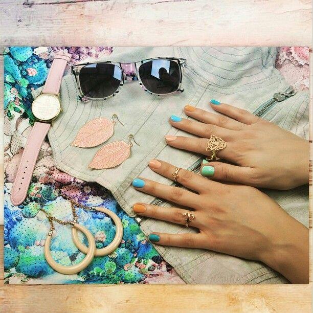 Pastel candy nails by Ziggy Glitterdust