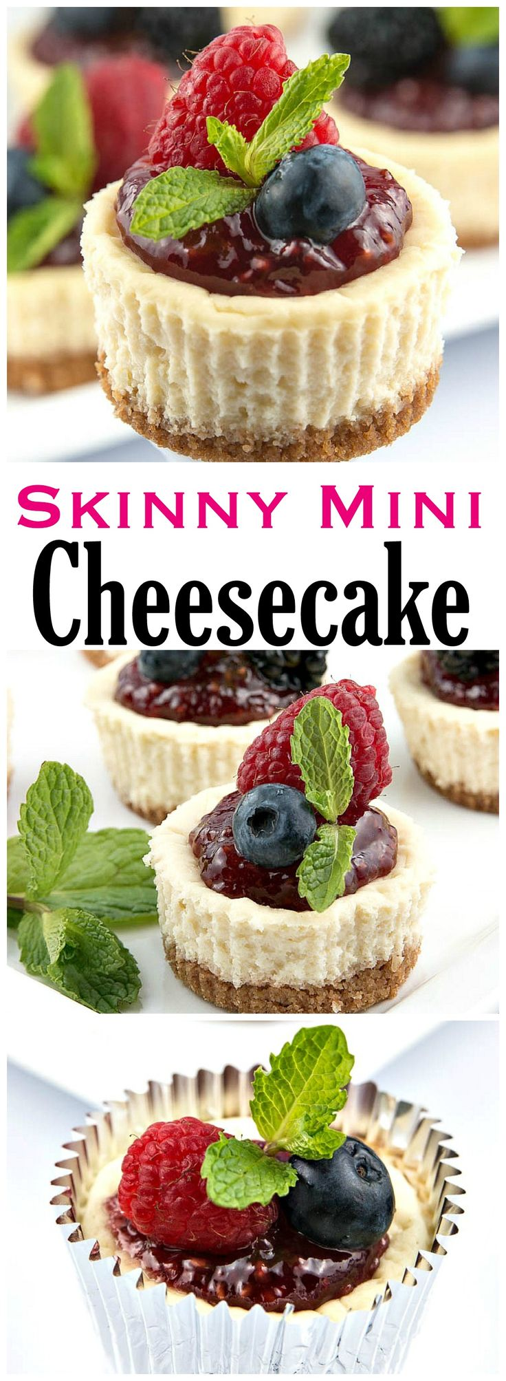 Let me be the first to say you will never miss the extra calories after you have had a Skinny Mini Cheesecake!