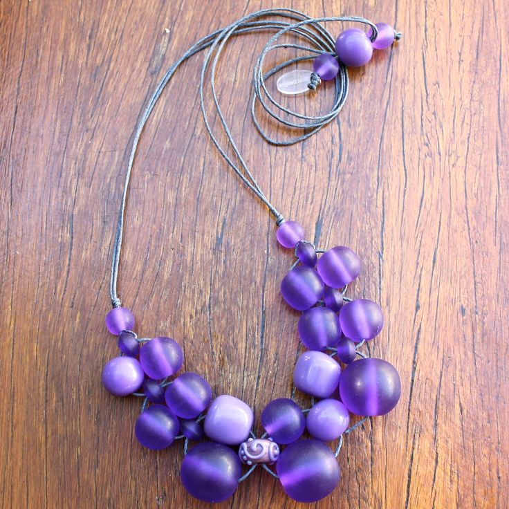 Purple Bubble Ball Necklace