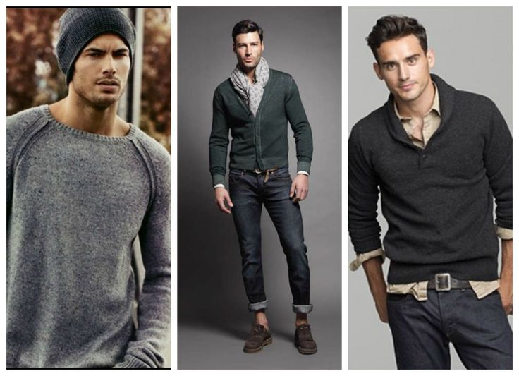 Fall, winter outfits for men - jumper.