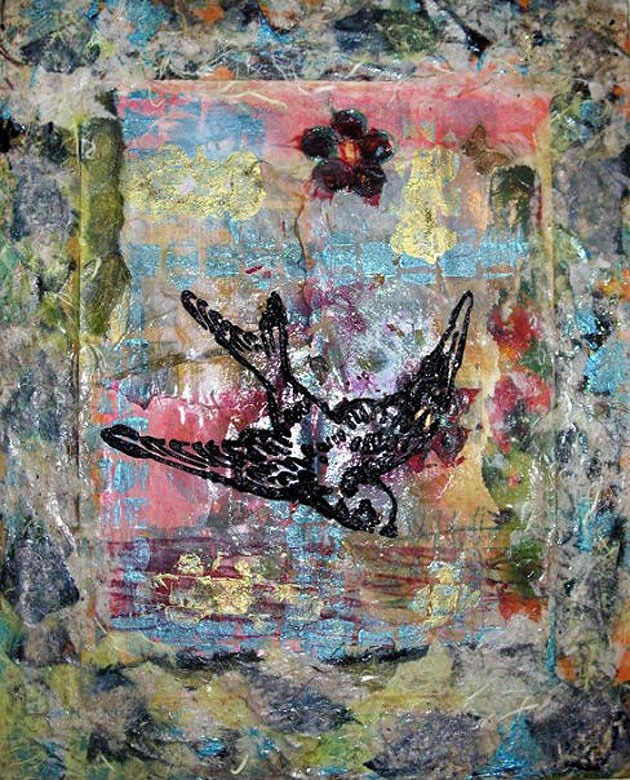 mixed media art on canvas 50x40 cm   materials: acrylics, handmade papers, glitter glue, inks  #walls #art #mixedmedia