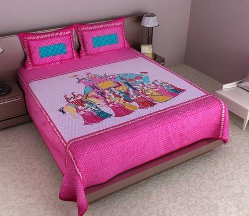 Gentil Buy Bed Sheets Online On SilkRute, Hand Printed Floral Print Cotton Double  Bedsheet, Designing Bedsheet,