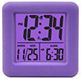 #5: Equity by La Crosse 70904 Soft Purple Cube LCD Alarm Clock