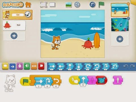 Scratch Jr coding app for kids is great for teaching preschoolers and young elementary school kids how to code...