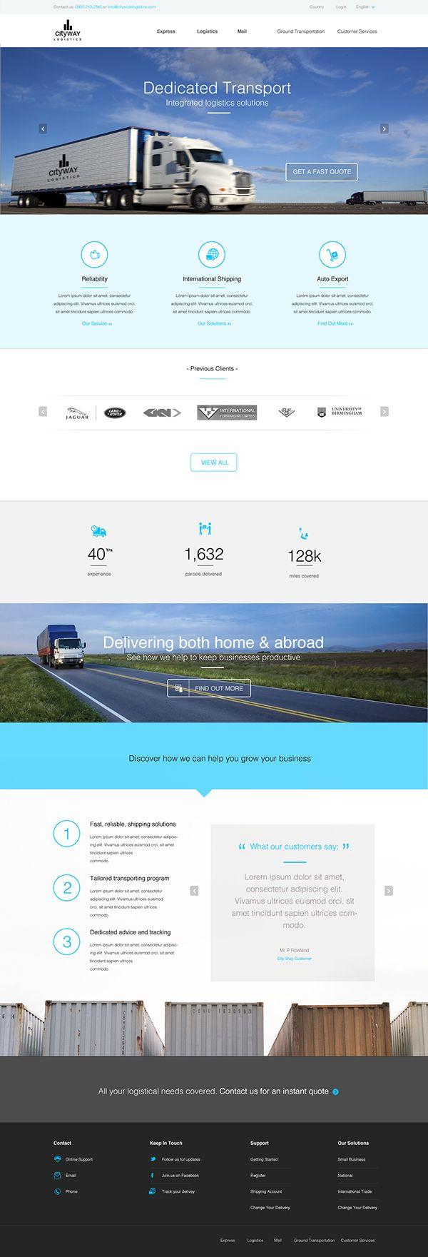 Beste Website Vorlage Für Transportunternehmen Bilder - Entry Level ...