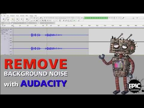Need help creating video learning content?  With our 1 day starter course we can get you started.   Remove background noise with Audacity - YouTube https://www.youtube.com/watch?v=uz000wl-9g4