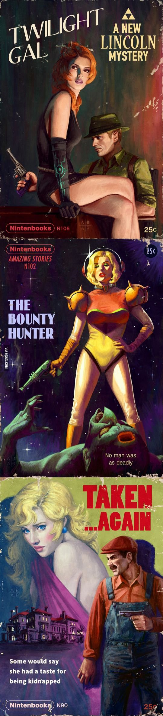 Nintendo Pulp Novel Covers