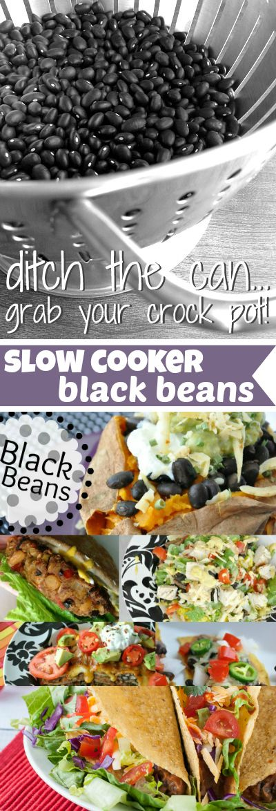 The easy way to cook dried beans in the slow cooker! Save money and skip the sketch by nixing cans and making these crockpot black beans instead!