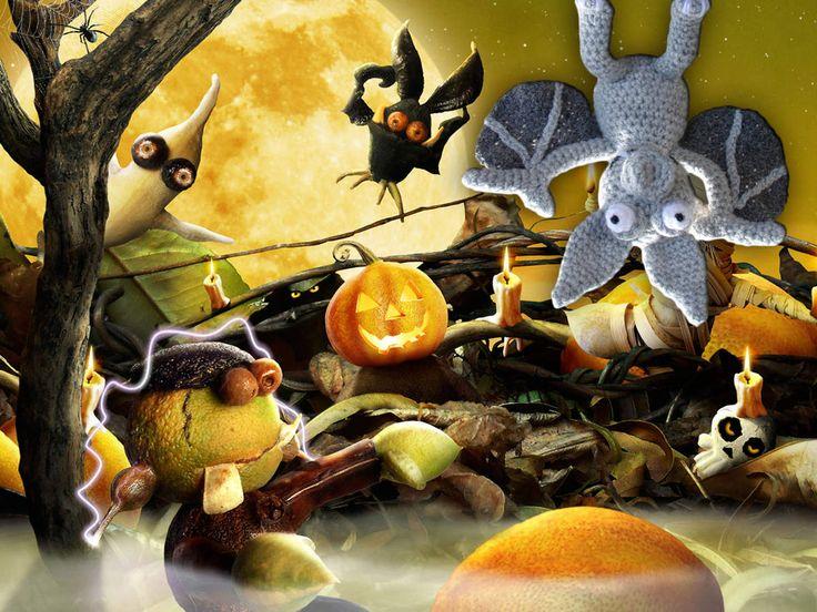 La chauve souris pour halloween, au crochet