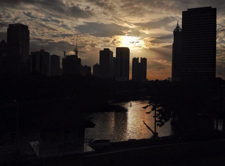 Sundown at central Jakarta.