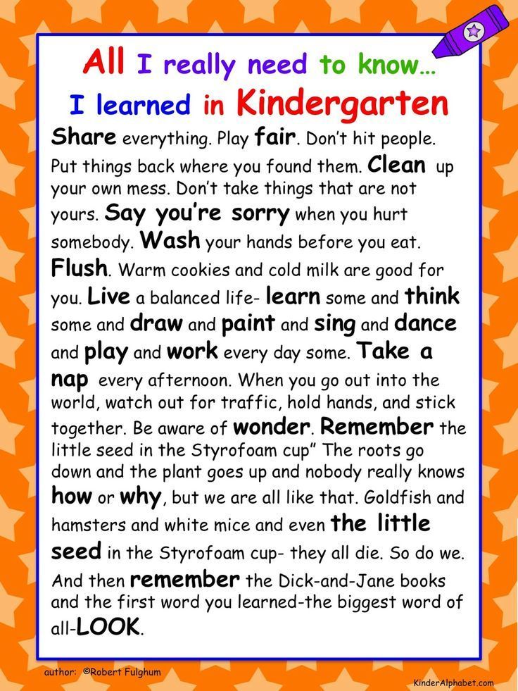 i learned everything i needed to know in kindergarten - Google Search