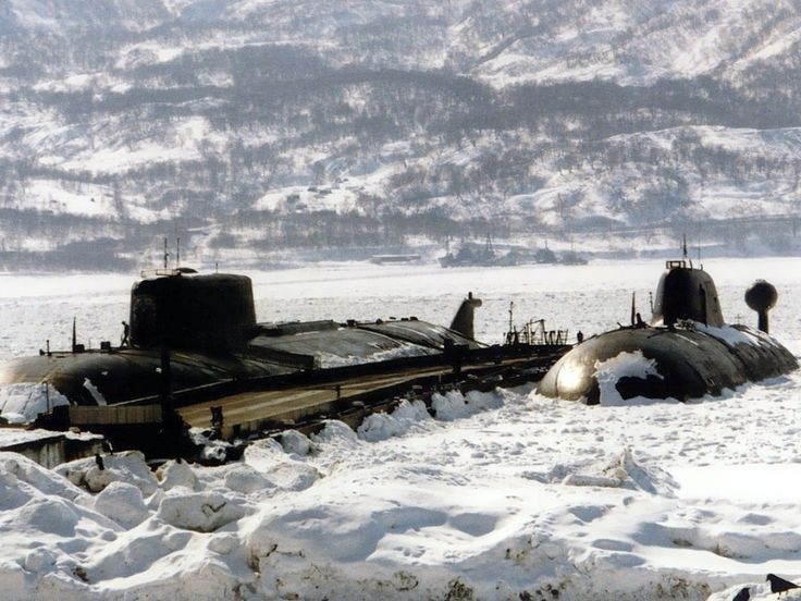 Oscar class and Akula class Russian submarines.